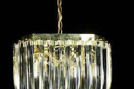 mcm mid century modern lucite ribbon loop chandelier brooklyn ny nyc