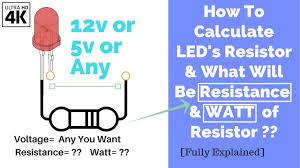Smd Resistor Wattage Size Chart How To Calculate Leds Resistor And Watt Of It Of12v 5v Or Any Other Volts Electronics Teaching