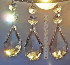 3 of 12 xl chandelier drops cut glass crystals droplets sq oval antique spec light parts