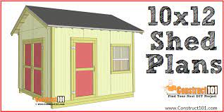 shed plans 10x12 gable shed step by