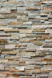 stacked stone wall sticker pixers