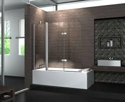 bathtub design 3 panel hinge shower glass bath screen