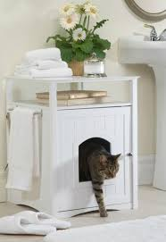 litter box furniture cat enclosed covered. Kitty Litter Box Enclosed Cat Litterbox With Covered Cabinet Furniture End Table #MerryProducts