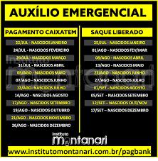 Calendário Saque Auxílio Emergencial Segunda Parcela