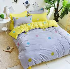 comforter sets cute comforters new gray and yellow smile bedding cute cotton bedlinen
