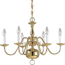 trendy progress lighting americana collection light polished brass throughout chandeliers brass with chandelier and mirror company