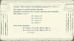 number theory diophantine equation ax by gcd a b
