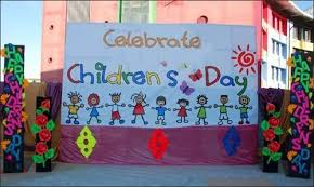 Beautiful Chart By Kids For Celebrating Childrens Day At