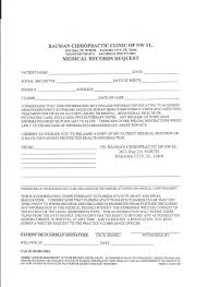 Medical Records Request Forms Medicare Patient Forms Bauman Chiropractic 13