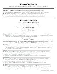 New Graduate Nurse Resume Examples Megakravmaga Com