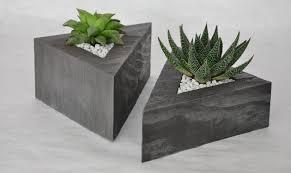Concrete triangle planters