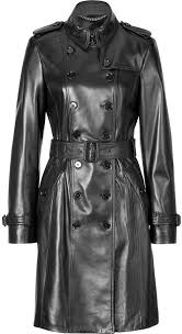 women s fashion outerwear trenchcoats black leather trenchcoats burberry london leather elstree trench coat