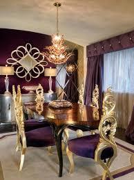 elegant eggplant gold dining room