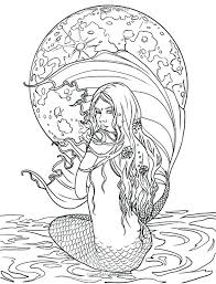 Realistic Mermaid Coloring Pages Shoot Fairy Detailed For Adults
