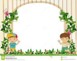 Small Picture Garden clipart border magielinfo