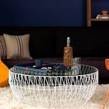 contemporary coffee table metal round outdoor