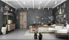 Interior  Luxury Industrial Bedroom Ideas Alongside Grey Wall - Grey wall bedroom ideas