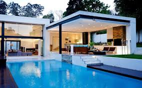 Beautiful White House With Swimming Pool Free Image Download High