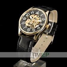 sharp watches prices. fashion mens skeleton transparent mechanical wristwatch stainless steel leather sharp watch gift(china) watches prices h