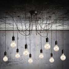 exposed lighting. Lighting:Edison Bulb Pendant Light Fixture Ceiling Fixtures Brushed Nickel By Dancordero Rustic Concrete Exposed Lighting H