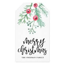 Forest Friends White Holiday Gift Tags