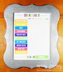 Cute Chore Chart Diy Chore Chart Artsy Fartsy Mama