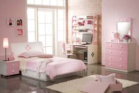 Silver And Pink Bedroom Pink Girls Bedrooms Square White Painted Wood Study Desk Silver