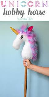 a fun unicorn hobby horse play horse