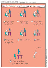 stott pilates on twitter fun friday cartoon how to exercise while sitting at your desk funfriday pilates t co xoehvesfaf