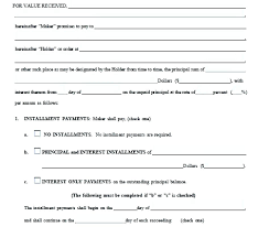 Promissory Note Word Template Promissory Note Form Template