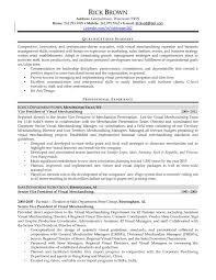 Visual Merchandiser Resume Updated Sample Resume For Merchandiser