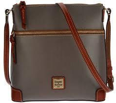 Qvc Designer Bags Dooney Bourke Claremont Leather Crossbody Handbag Qvc