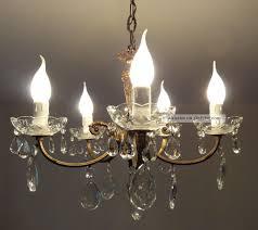 Kronleuchter Lüsterbehang Messing Lampe Lüster France Antik
