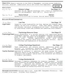 How To Write Student Resume Student Resume Before Rewriting Write A ...