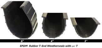 garage door bottom epdm t rubber seals 3 in 4 in