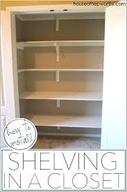 Wood closet shelving Ventilated How To Install Shelves In Closet Full Tutorial At Wwwhouseofhepworths The Craft Patch How To Install Shelves In Closet House Of Hepworths