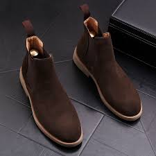 Stephoes Luxury <b>Men</b> Fashion Casual Ankle Boots <b>Spring Autumn</b> ...
