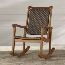 image of rustic small rocking chair