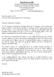 Letter Of Recommendation Medical School Sample   Inviview.co