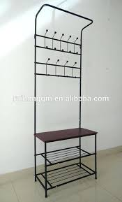 Metal Entryway Storage Bench With Coat Rack Enchanting Pipeline Hall Tree Cushion Bench Metal Foyer Hall Tree Entryway Hat