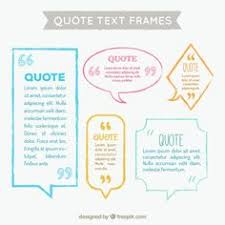 Flat Speech Bubbles With Quote Template Free Vector | Quote ...