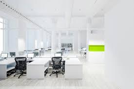 modern office spaces. 3d Modern Minimalist Office Space Interior Render Spaces