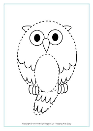 owl tracing fall crafts learning activities owl printables and pre
