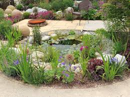 Small Picture Garden pond with flowers and shrubs GARDENS Pinterest Garden