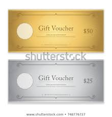 gift card formats gift certificate voucher gift card cash stock vector