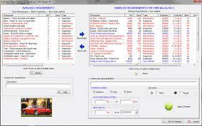 Car Maintenance Chart The Original Car Care Software Free Download Car