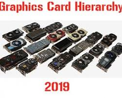 Graphics Card Hierarchy Graphics Cards Tier List For