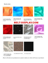 Color Chart Best On The Planet Karate Belt Display