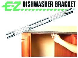 attach dishwasher to countertop attach dishwasher