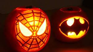Captain America Pumpkin Designs Halloween Pumpkin Superheros Spiderman Batman